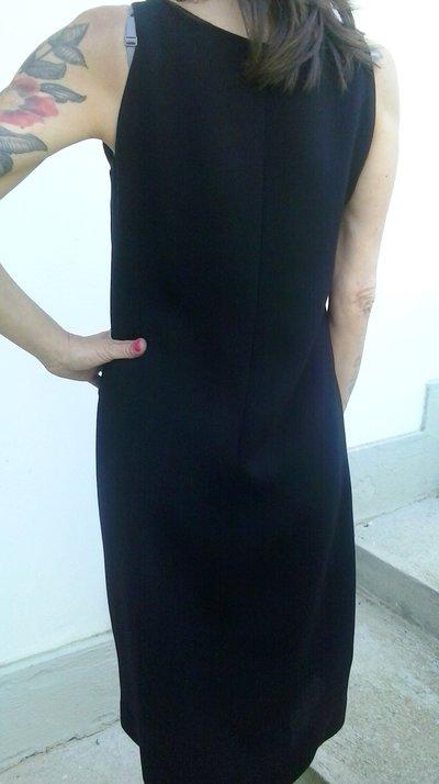 new product c7a3a 58430 tubino nero vintage elegante in fresco lana