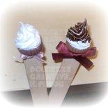 ★★SALDI Segnalibro Dolcetto - cupcake con nutella, in fimo e cernit con fiocco :)