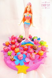 Lecca lecca fine festa in torta personalizzata con personaggio