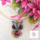 collana con ciondolo - Owl - Art. 127e