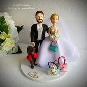 Cake topper sposi personalizzati realistici
