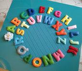 alfabeto di feltro con calamite - lettere - gioco creativo - imparare giocando