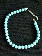 Collana di pietre dure azzurre