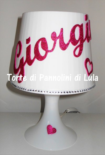 Personalizzabile Comp Originale Idea Lampada Tavolo Regalo Nome Da RA5L34Scqj