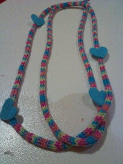 collana multicolor lana e feltro