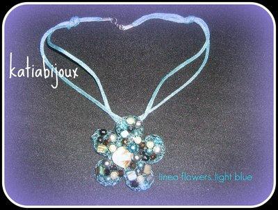 collana linea flowers....light blue