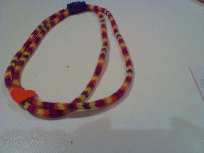 collana in lana e feltro