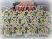 Bomboniera scatola con fiori in fimo