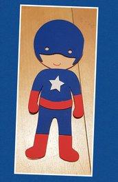 Bomboniere regalino fine festa super eroi versione portachiavi o calamita a scelta.
