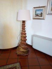"Lampada di carta ""Spirale"" con paralume"