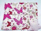 Porta pannolini da borsa con farfalle