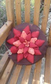 Cuscino tondo con fiore