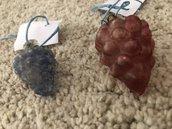 Uva, ricambio pendente per lampadari di Venini, Maria Teresa, Mazzega, Artemide, Toso, in vetro soffiato di Murano, color ametista