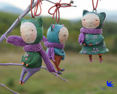 Set tre gattini giapponesi figurines art decor