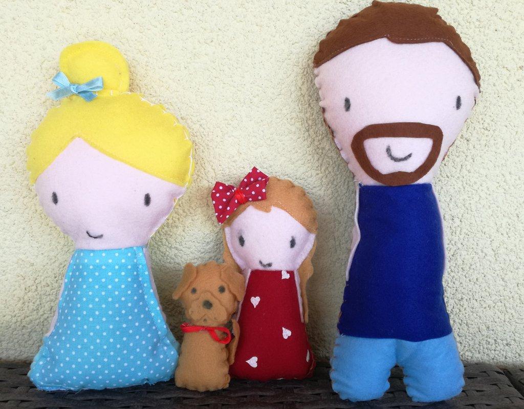 Pupazzi ritratto famiglia
