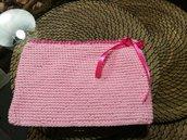 pochette uncinetto rosa