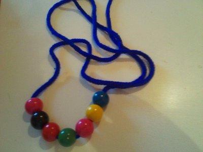 collana sfere  multicolore