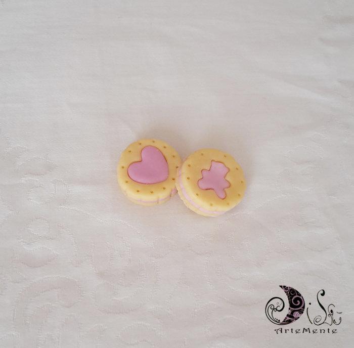 bomboniere biscotti farciti cuore orsetto per battesimo, primo compleanno, nascita bimba