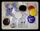 Lotto di materiale creativo, stampini fatti a mano, pasta polimerica, fimo, tema vario