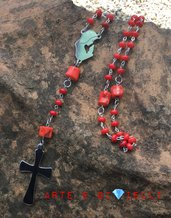 Collana rosario con corallo bambù