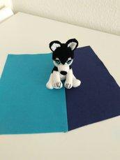 Husky amigurumi a maglia