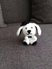 Cane col cappello amigurumi a maglia
