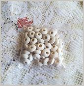 Lotto 50 distanziatori rondelle in legno 10 mm. colore: BIANCO