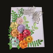 Fustelle in metallo gruppo di fiori