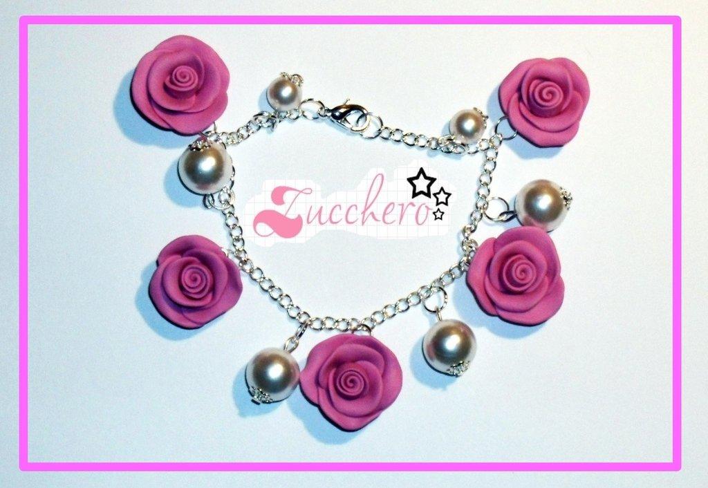 Bracciale Fimo/Cernit Rose