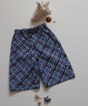 Pantaloncino da bagno per bimbi, tessuto di nylon; fatto a mano.
