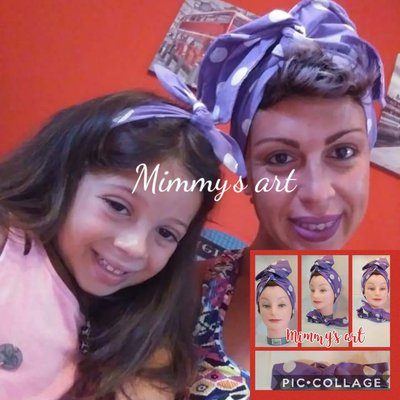 famiglia Set di 2 fasce per capelli per mamma e figlia Kcnsieou accessori per genitori//figli con fiocco