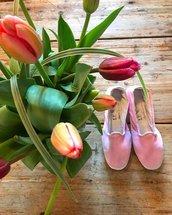 Scarpe o Pantofole in Velluto Rosa