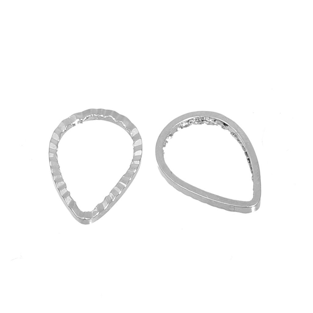 1* (40 pezzi) Anellini connettore a forma di goccia