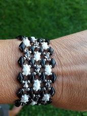 il braccialetto nero bianco nero sfumato