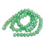 Lotto Stock Perle perline in vetro sfaccettato 8 X 6 mm color VERDE decorazioni Accessori bigiotteria, orecchini, bracciali, collane