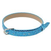 500*Cinturino Azzurro in pelle con Glitter 22,5 cm