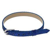 Cinturino Blu in pelle con Glitter 22,5 cm