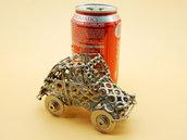 scultura in metallo Art metal fiat 500 cinquecento riciclo modello 500 fiat 500 scultura