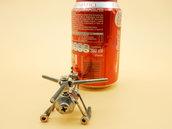 elicottero in acciaio modellino artistico
