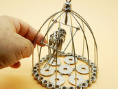 riciclo fatto a mano  Art metal titti gabbia titti gabbia arte decoro casa made in italy uccello arte scultura acciaio metal art