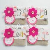 20 sacchetti per confetti in stoffa: bomboniere originali e personalizzabili per il battesimo della vostra bambina