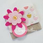 20 sacchetti portaconfetti per la cresima della vostra bambina: tessuti fantasia, fiorellini in feltro e una tag personalizzata per sacchetti colorati e  originali