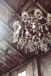 Gocce o cristalli pendenti , ricambi per lampadari di Venini, Mazzega, Artemide , Maria Teresa e catene, in vetro di Murano, Swarovski o Boemia