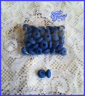 Lotto 50 distanziatori rondelle in legno 10 mm. colore BLU
