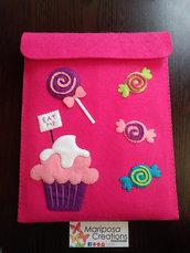Porta Tablet/iPad Case cupcake e caramelle