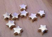 Perle perline in ACRILICO A FORMA DI stellina DORATA 10 X 9 mm decorazioni Accessori bigiotteria, orecchini, bracciali, collane