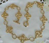 Collana in metallo dorato firmata Pierre Cardin, vintage anni 70 /80