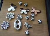 Perle perline, charms, divisori, spaziatori, connettori decorative ( come in foto)