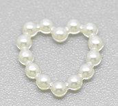(1 pezzo) Cuoricini cuore cuori perline decorative 11mm feste nozze matrimonio