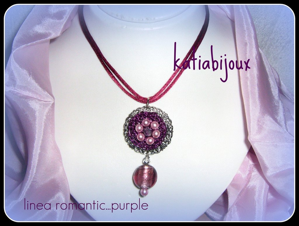 collana linea romantic...purple